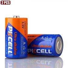 2 Pcs PKCELL D Size 1.5V LR20 Ultra Alkaline Battery Single Use For MP3 Toys
