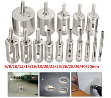 15Pcs 6-50mm Diamond Tool Drill Bit Hole Saw Cutter Glass For Tile Marble Glass