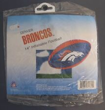 "DENVER BRONCOS 14"" INFLATABLE FOOTBALL NEW IN PACKAGE NFL LICENSED"