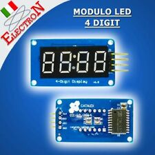 MODULO 4 DIGIT LED DISPLAY TM1637 seriale LUMINOSITA' REGOLABILE Clock ARDUINO