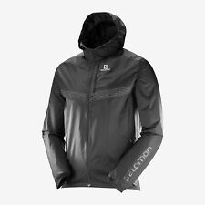 Brand New SALOMON Men's Fast Wing Aero Running Jacket Black LARGE (397651)
