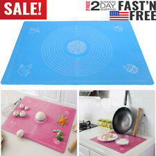 65x45cm Large Silicone Non-stick Baking Mat Rolling Dough Pad Pastry Fondant NEW