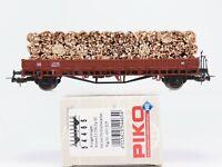 HO Scale PIKO 54465 DB Deutsche Bahn Stake Car W/ Wood Load #430 205