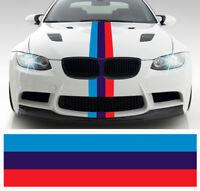 BANDE POUR BMW M3 MOTORSPORT RACING STRIPE 55cmX15cm AUTOCOLLANT STICKER BD574.