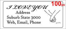 100 Personalised return address label custom sticker 56x25mm you & me wedding