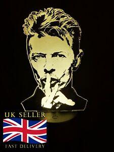 David Bowie Acrylic Engraved LED lamp