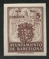 ESPAÑA - BARCELONA - 1944 - EDIFIL 55 S/D - NUEVO SIN GOMA