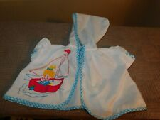 Celanese Fortrel Girl In Sailboat Baby Bath Robe or Cape Vintage
