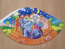 """Hütchen Happy Hippos """" Träumer Tommy"""" Ferrero 1997 Sticker Nr. 6 Überraschungsei"""