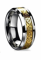 Mens Ring Celtic Wedding Band Engagement Anniversary Dragon Stainless Steel New