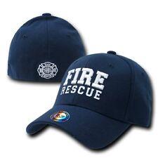 Fire Rescue Fireman Firefighter FD Flex Baseball Ball Cap Caps Hat Hats Sz L/XL