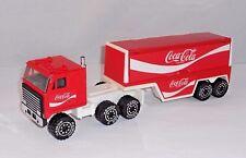 """REMCO Late 80s Coca-Cola Semi Delivery Truck & Trailer 11.5"""" Steel & Plastic"""