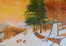 """Gemälde """"Es war einmal....Wintermärchen"""" Künstlerin Hilde Ament Art Painting"""