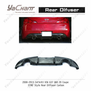 Carbon Rear Lip For 2008-2015 Infiniti V36 G37 Q60 JDM Coupe DTM2 Rear Diffuser