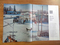 1958 Photo Article Ad  On the Oregon Trail    Fort Bridger Wyoming