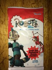 Robots the movie trading cards sealed pack