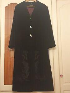 Vintage Windsmoor Long Velvet Coat 18