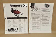 Vintage 1992 Yamaha Venture XL VT480 S Brochure Flyer Pamphlet Spec Sheet