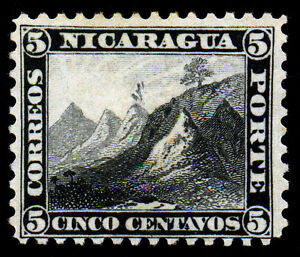 Nicaragua. 1869. 5c, 10c.  SC# 5, 6. White paper. NG~MLH. XF. 2 Piece
