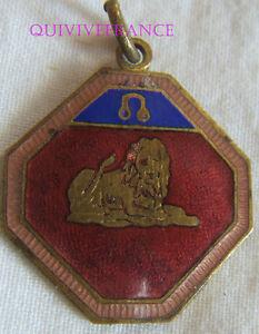 BG7107 - MEDAILLETTE BADGE ASTROLOGIQUE LION