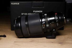 Fuji non XF 100-400 mm F/4.5-5.6 LM OIS R WR Objektiv mit Zubehör