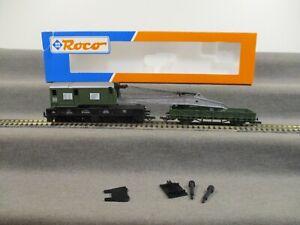Roco H0 46330 Güterwagen Kranwagen Niederbordwagen der DB in OVP