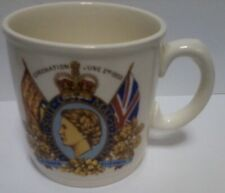 Queen Elizabeth II  Commemorative Coffee Mug  Coronation June 2nd 1953 England