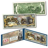 ROUGH RIDERS Teddy Roosevelt Army Spanish War Genuine Legal Tender $2 U.S. Bill