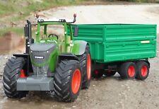 "RC Traktor FENDT 1050 + Anhänger in XL Länge 74cm ""Ferngesteuert""  405035-1"