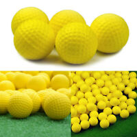 10 X PU Foam Elastic Golf Sponge Balls Indoor Outdoor Practice Training Durable