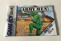 Army Men Original Nintendo Game Boy Color Instruction Booklet Manual Only
