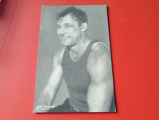 VINTAGE   RARE   ORIGINAL   JACK  SHARKEY   COUPON  BACK   BOXING  EXHIBIT  CARD