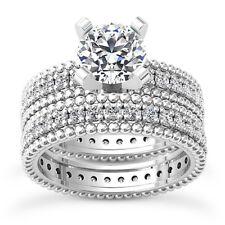 Eternity Solitaire 2.35 Carat Round Diamond H/VS2 Engagement Ring 14K White Gold