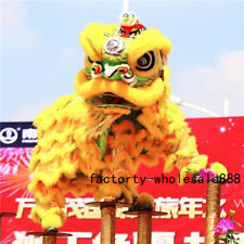 Lion mascot Dance Costume wool Southern Lion Chinese Folk art For two adults Hot