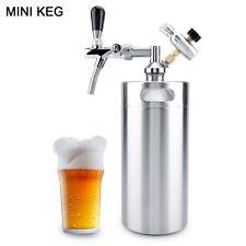 3,6L Mini Edelstahl Fass Growler Keg Haus brauen Bierfass Flasche mit Wasserhahn
