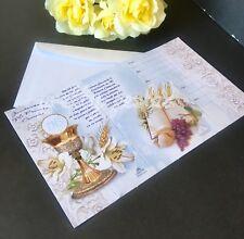 12-First Communion Invitation W/12 Envelope Favors 1st Primera Comunión Boy/Girl