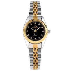 CHENXI Rhinestone Gold Band Couple Quartz Wrist Watch Dress Business Watches