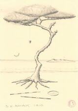 "Dimitris C. Milionis ""TREE WITH HEART TALISMAN"" Graphite Pencil Drawing 2008"