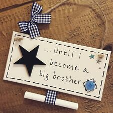 New Baby Pregnancy Announcement Plaque Countdown Until I Become A Big Brother
