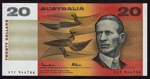 Australia 20 Dollars 1985 P-46e * XF * Johnston & Fraser *