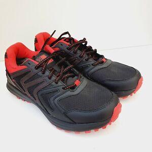 Karrimor Waterproof Men Trainers hiking walking shoe boot black red size 8