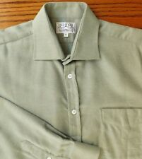 Green herringbone flannel shirt Collar size 16.5 inches Oxford Shirt Company