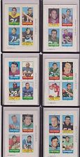 CARDS ADDED 1969 Topps Football Four In One 4 in 1 Cards Pick ONE/MORE NR. MINT