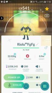 Shiny Riolu Trading Pokemon GO