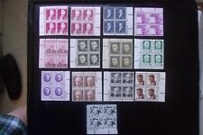 US Stamp  13 Definitive Plate Blocks  MNH  $13.16 FV