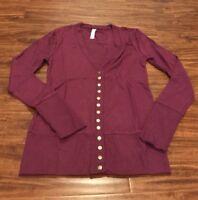Full Sleeve Snap Cardigan  - Purple