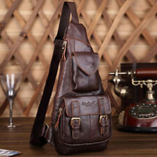 New Genuine Leather Real Cowhide Retro Men Messenger Shoulder Cross Body Bag