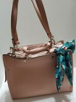STEVE MADDEN B DANNY N/tag PINK BLUSH HANDBAG SHOULDER SATCHEL SCARF PURSE NEW