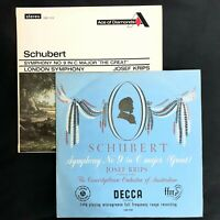 SCHUBERT Symphony nº 9 JOSEF KRIPS DECCA LXT 2719 & SDD 153  2Lp Mono/Stereo