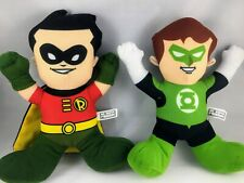 DC Comics Super Friends Toy Factory ROBIN and GREEN LANTERN Stuffed Plush.